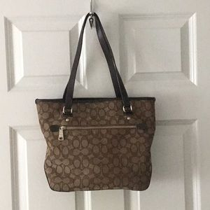Coach brand signature canvas purse tote